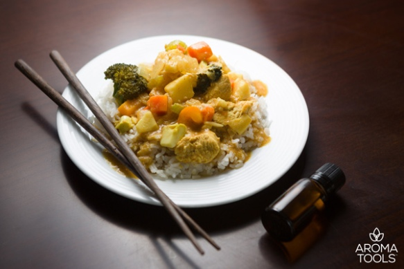 Chicken Coconut Curry and Coconut Rice with Essential Oils ...